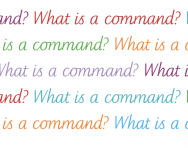 What is a command?