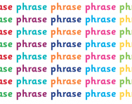 What is a phrase?
