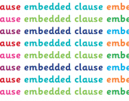 What is an embedded clause?