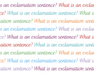 What is an exclamation sentence?