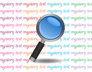 What is mystery text?