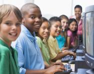 Children at computers