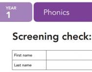Year 1 phonics screening check exam