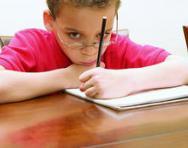 SEN child writing