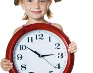Child with clock