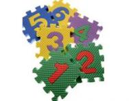Number puzzle pieces