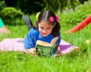 Year 6 girl reading