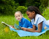 Year 5 children reading