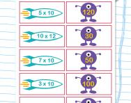 10 times table matching challenge worksheet
