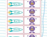 11 times table matching challenge worksheet