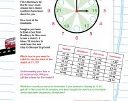 24-hour clock timetable worksheet