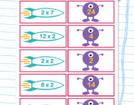 2 times table matching challenge worksheet