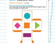 2D shapes hunt challenge