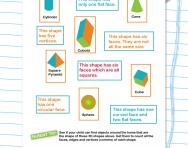3D shapes matching worksheet