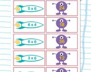 6 times table matching challenge worksheet