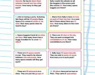 6 times table division word problems worksheet