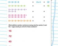 8 times table as repeated addition worksheet