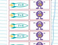 8 times table matching challenge worksheet