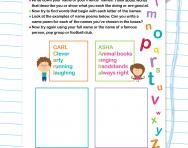 Acrostic adjectives worksheet