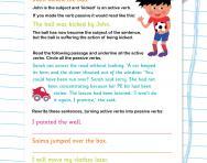 Active and passive sentences revision