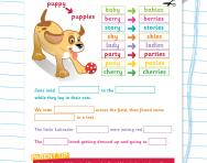 Adding -ies to form the plural worksheet
