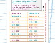 Adding and subtracting multiples of 100 worksheet