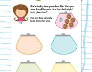 Adding coins to make 10p worksheet