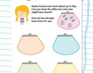 Adding coins to make 50p worksheet