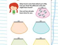 Adding coins to make 80p worksheet