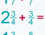 Adding fractions including mixed numbers tutorial