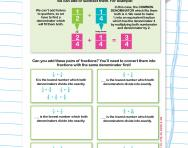 Adding fractions with different denominators worksheet