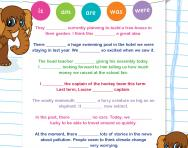 Adding is / am / are / was / were to sentences worksheet