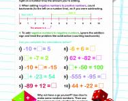 Adding negative numbers worksheet