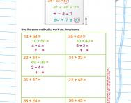 Adding two-digit numbers using partitioning worksheet