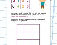 Addition number puzzle worksheet
