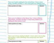 Addition story problems worksheet