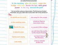 Adverbial phrases: matching halves of sentences worksheet