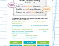 Adverbs revision worksheet