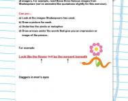 All about imagery worksheet