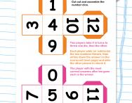 All in my head addition and subtraction game