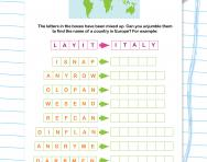 Anagrams: countries in Europe