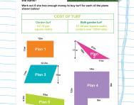 Area problems worksheet
