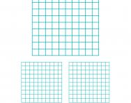 Blank hundred chart or hundred square
