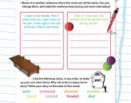 Boosting writing with powerful verbs worksheet
