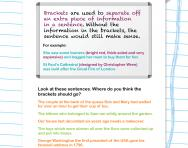 Brackets revision worksheet