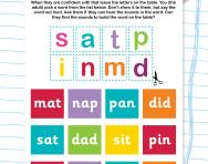 Building Phase 2 phonics words worksheet