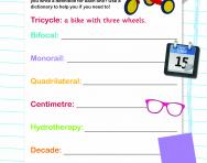 Building words with prefixes worksheet
