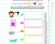Changing state: evaporation worksheet
