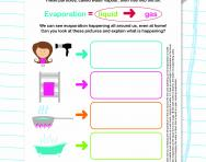 Changing state: evaporation worksheet