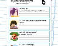 Character detective: emotions and actions worksheet